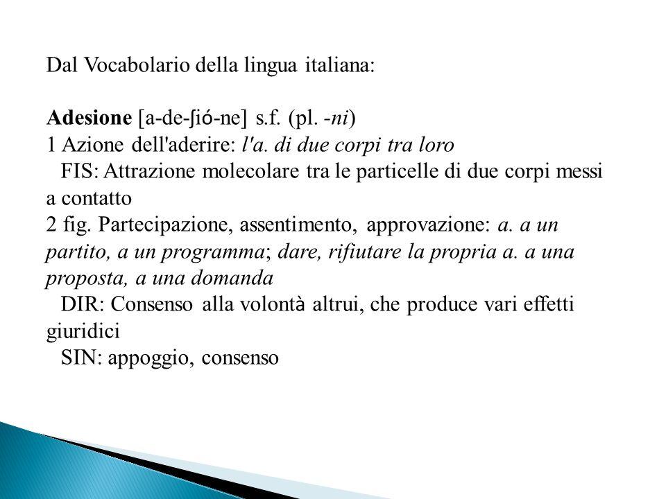 Dal Vocabolario della lingua italiana: