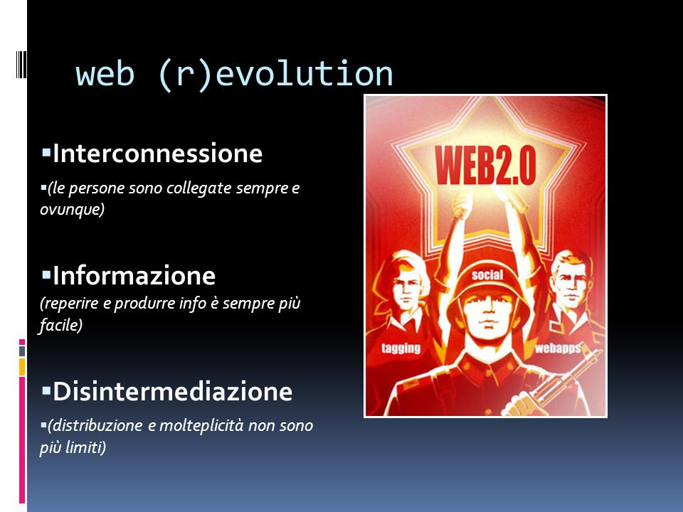 web (r)evolution Interconnessione