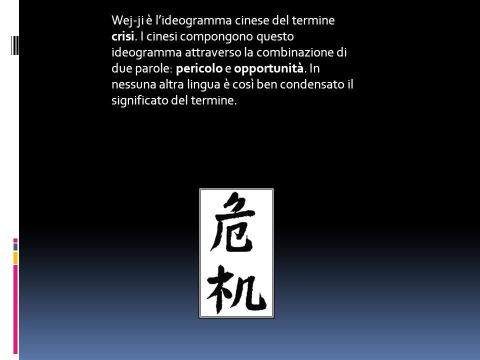 Wej-ji è l'ideogramma cinese del termine crisi