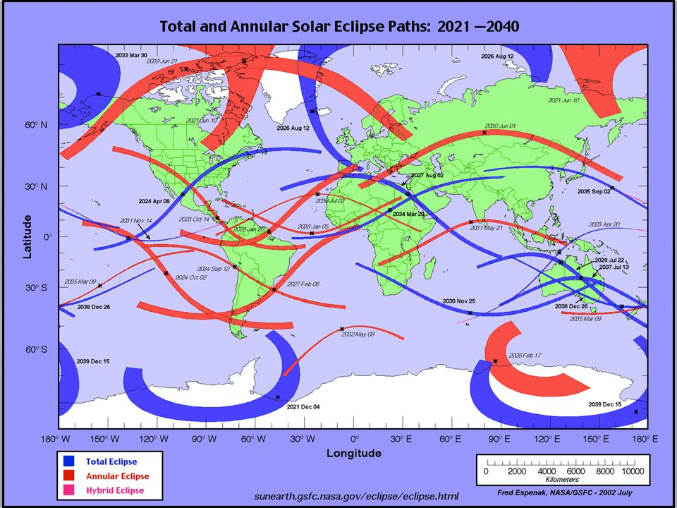 Total solar eclipses 2015-2030 (see http://eclipse.gsfc.nasa.gov)