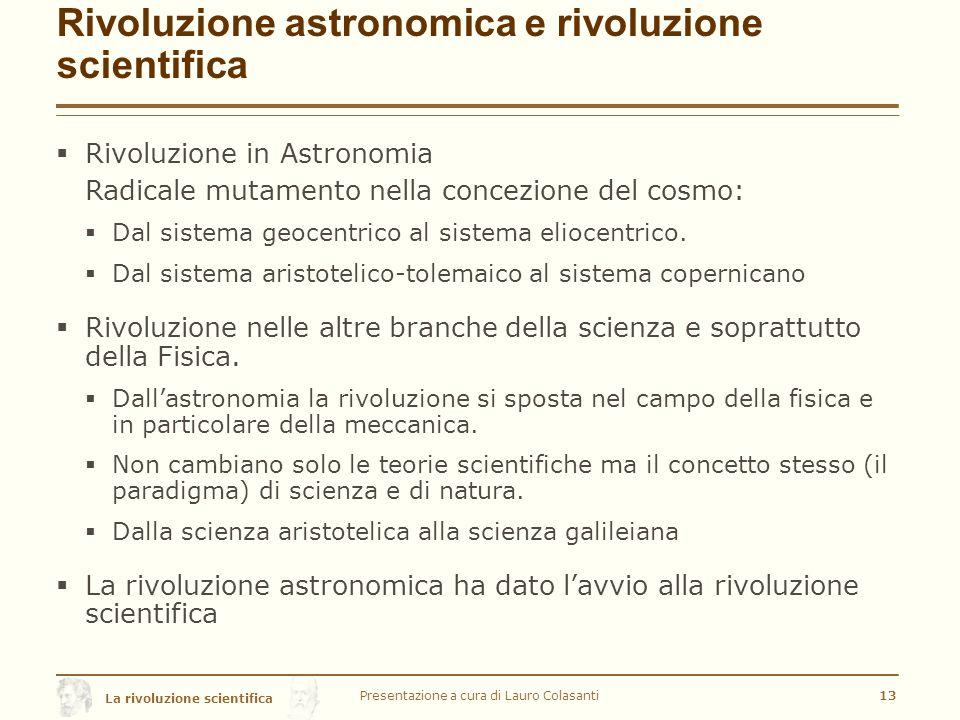Rivoluzione astronomica e rivoluzione scientifica
