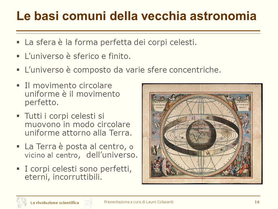 Le basi comuni della vecchia astronomia