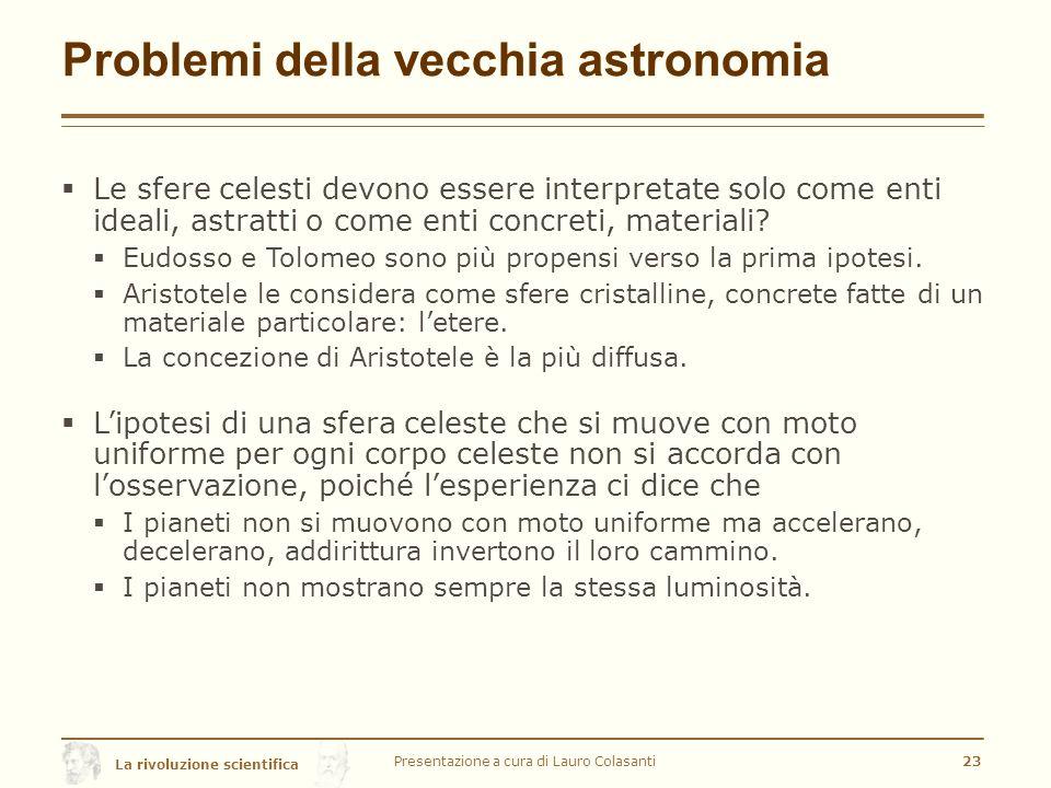 Problemi della vecchia astronomia