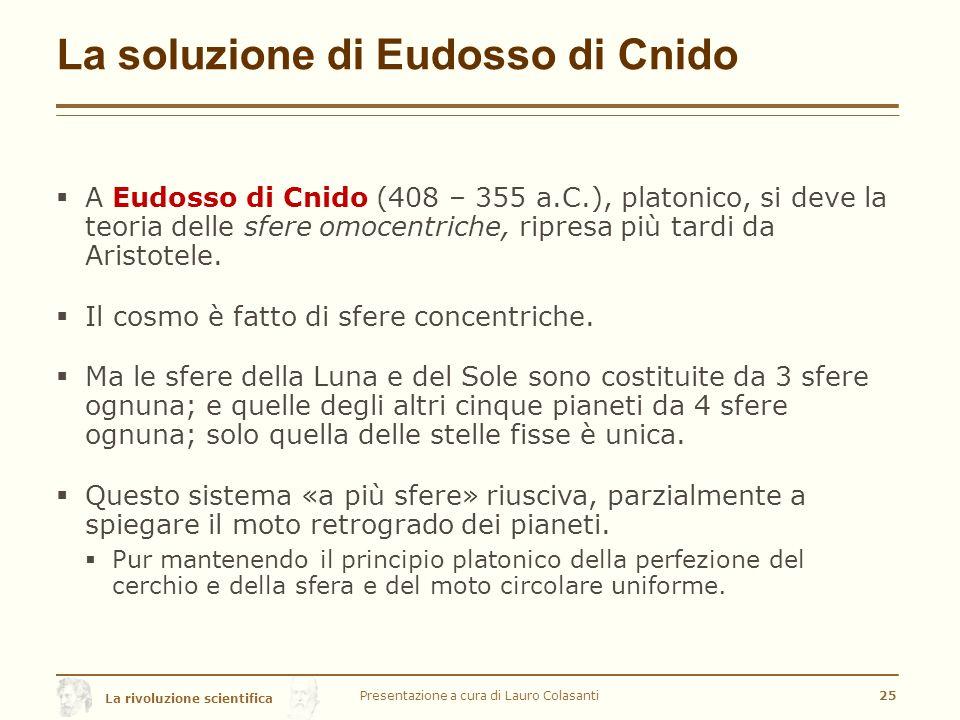 La soluzione di Eudosso di Cnido