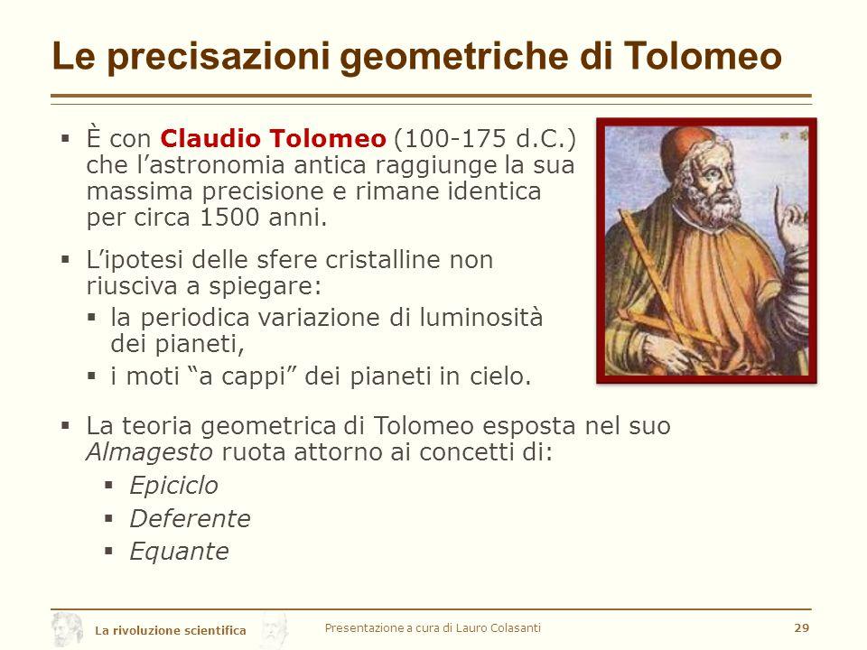 Le precisazioni geometriche di Tolomeo