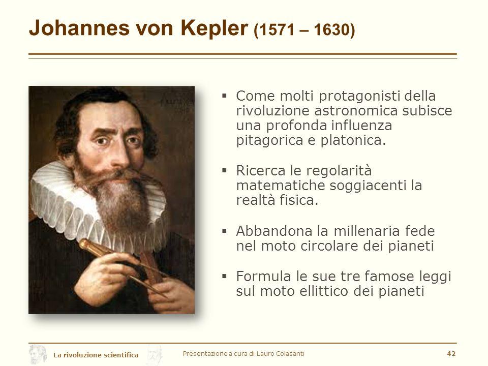 Johannes von Kepler (1571 – 1630)