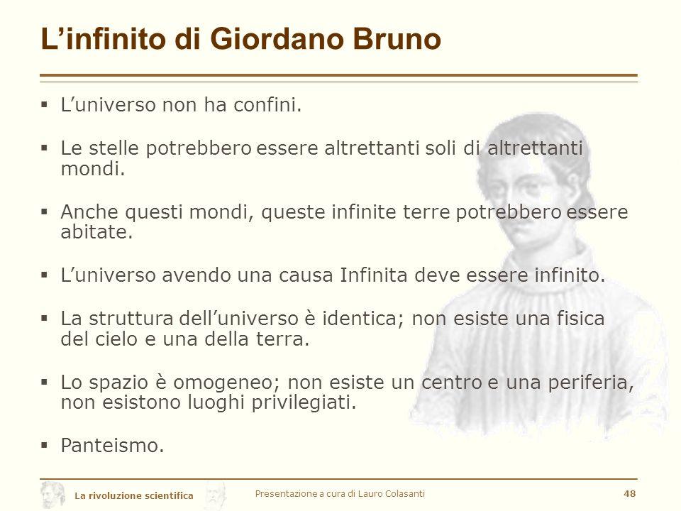 L'infinito di Giordano Bruno