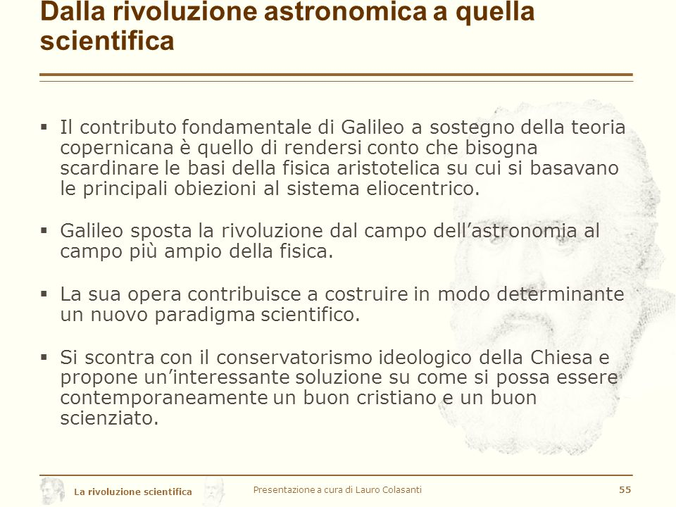 Dalla rivoluzione astronomica a quella scientifica