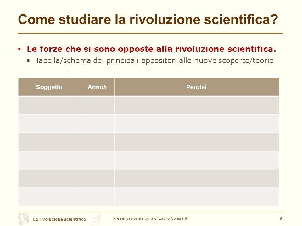 Come studiare la rivoluzione scientifica