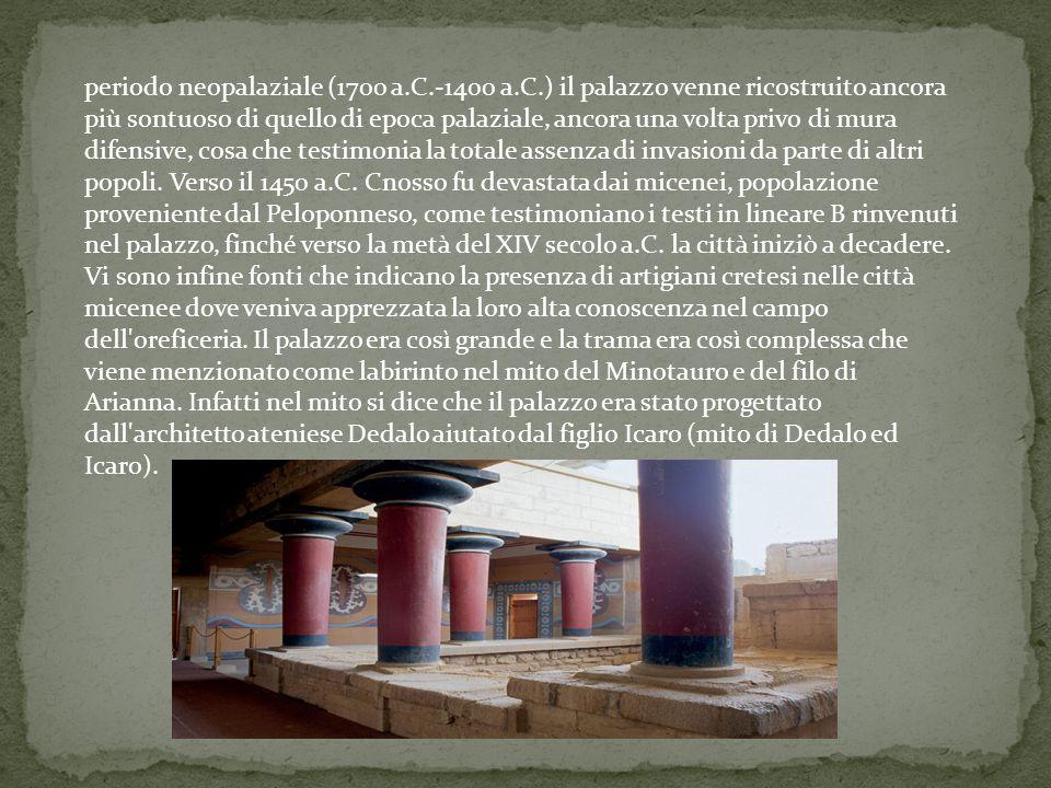 periodo neopalaziale (1700 a. C. -1400 a. C