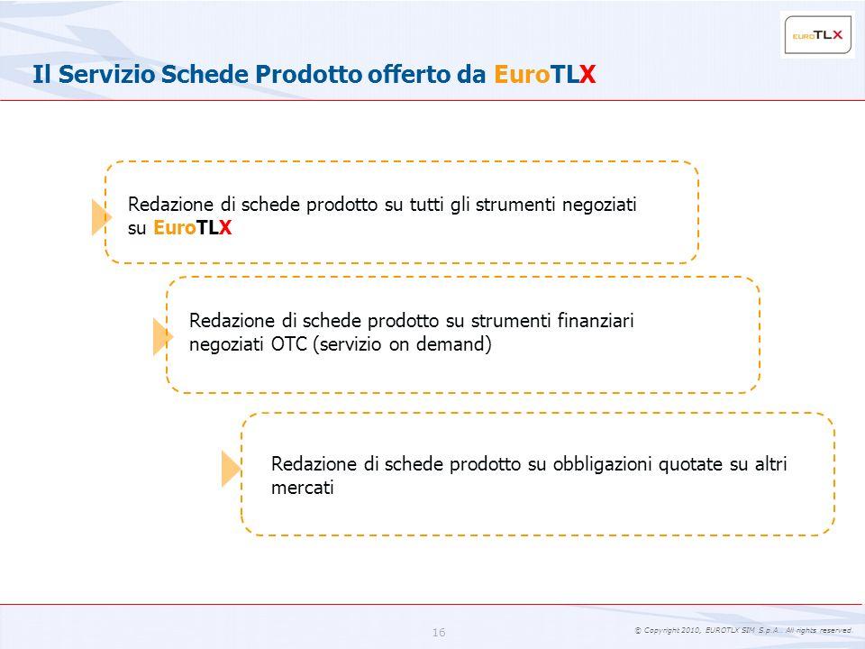 Il Servizio Schede Prodotto offerto da EuroTLX