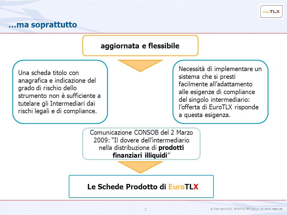 aggiornata e flessibile Le Schede Prodotto di EuroTLX