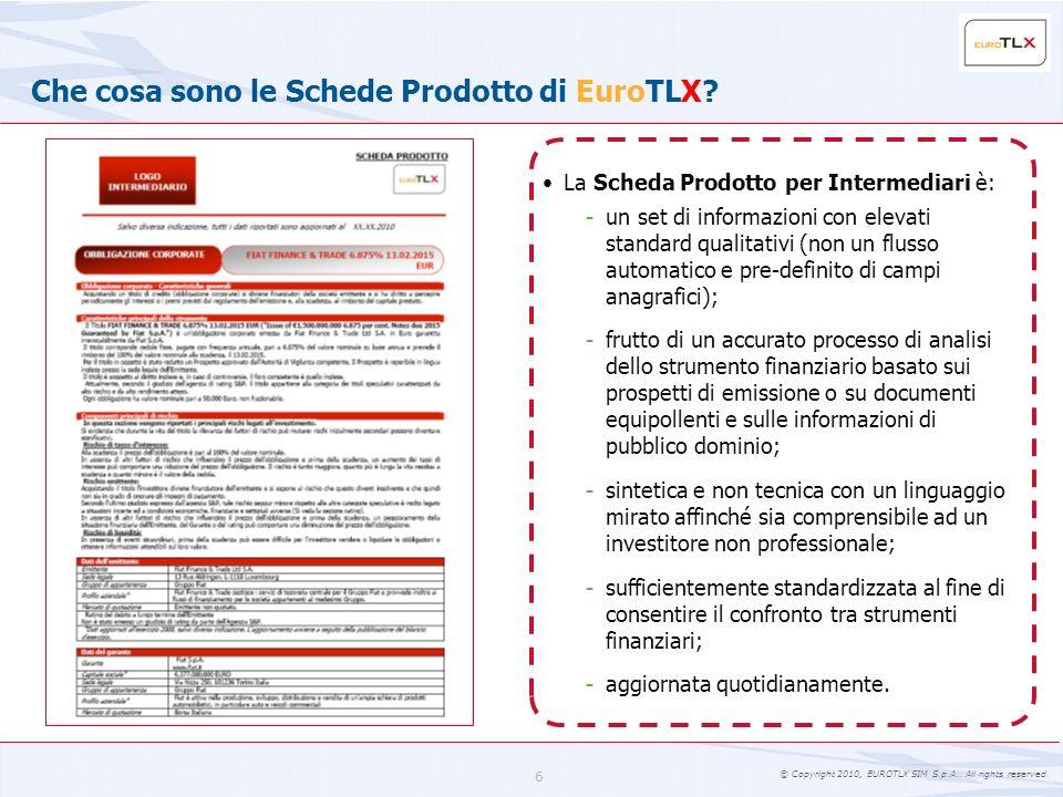 Che cosa sono le Schede Prodotto di EuroTLX