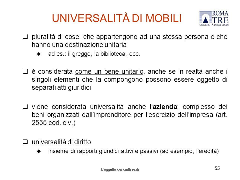 UNIVERSALITÀ DI MOBILI