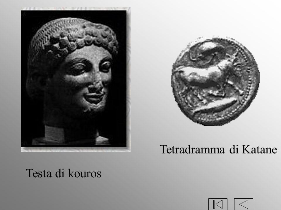 Tetradramma di Katane Testa di kouros
