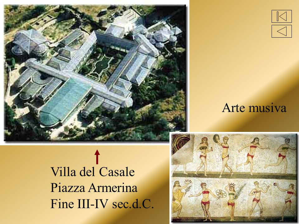Arte musiva Villa del Casale Piazza Armerina Fine III-IV sec.d.C.