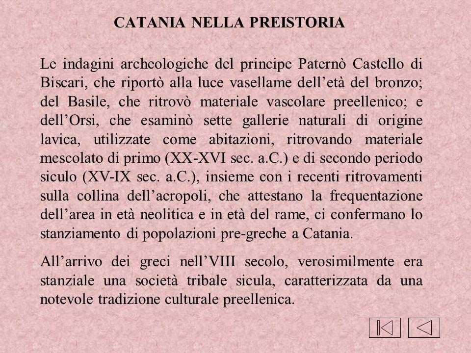 CATANIA NELLA PREISTORIA