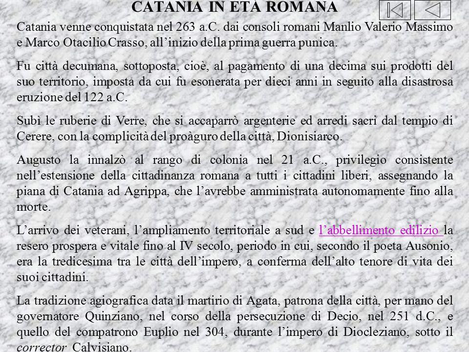 CATANIA IN ETÁ ROMANA