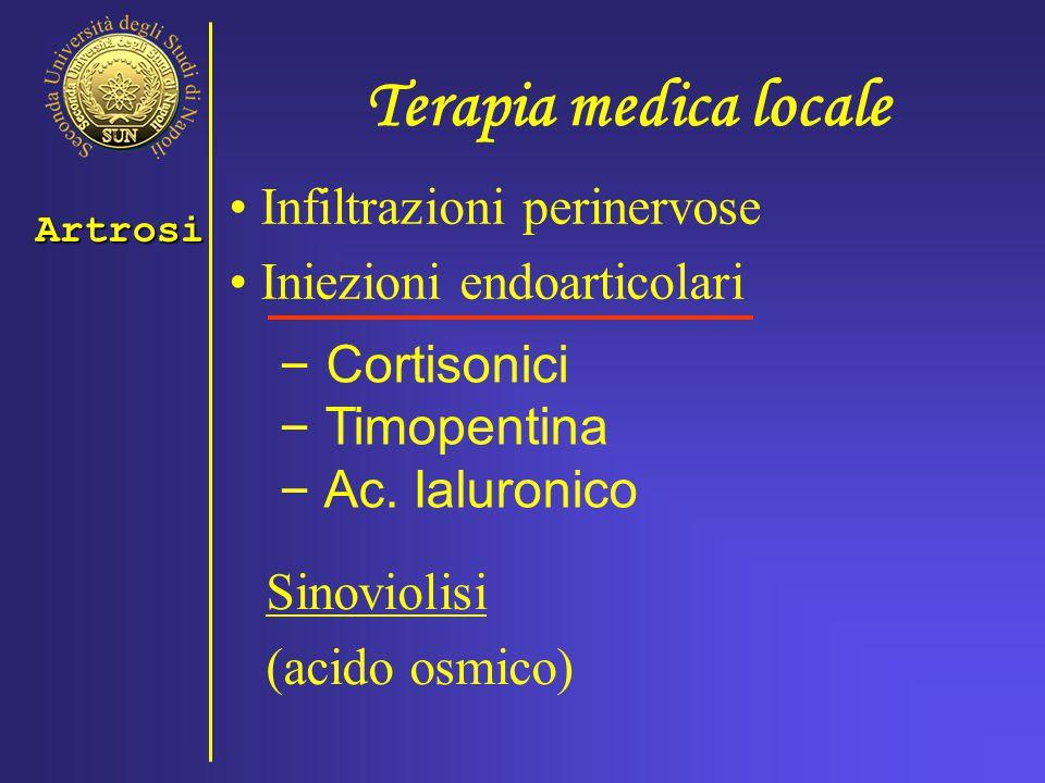 Terapia medica locale Infiltrazioni perinervose
