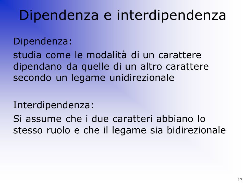 Dipendenza e interdipendenza