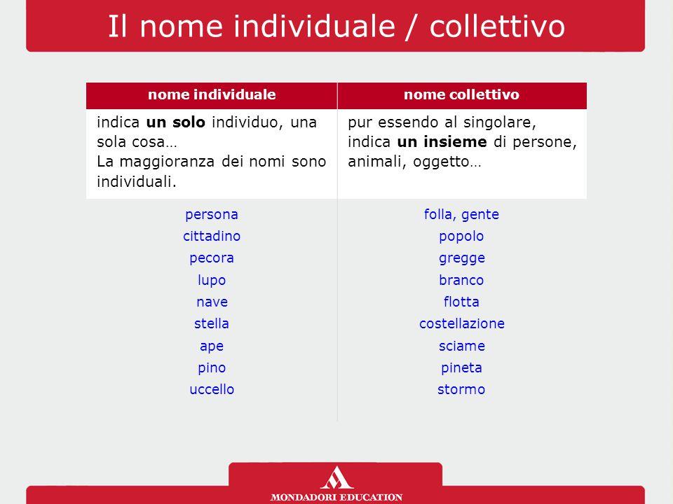 Il nome individuale / collettivo