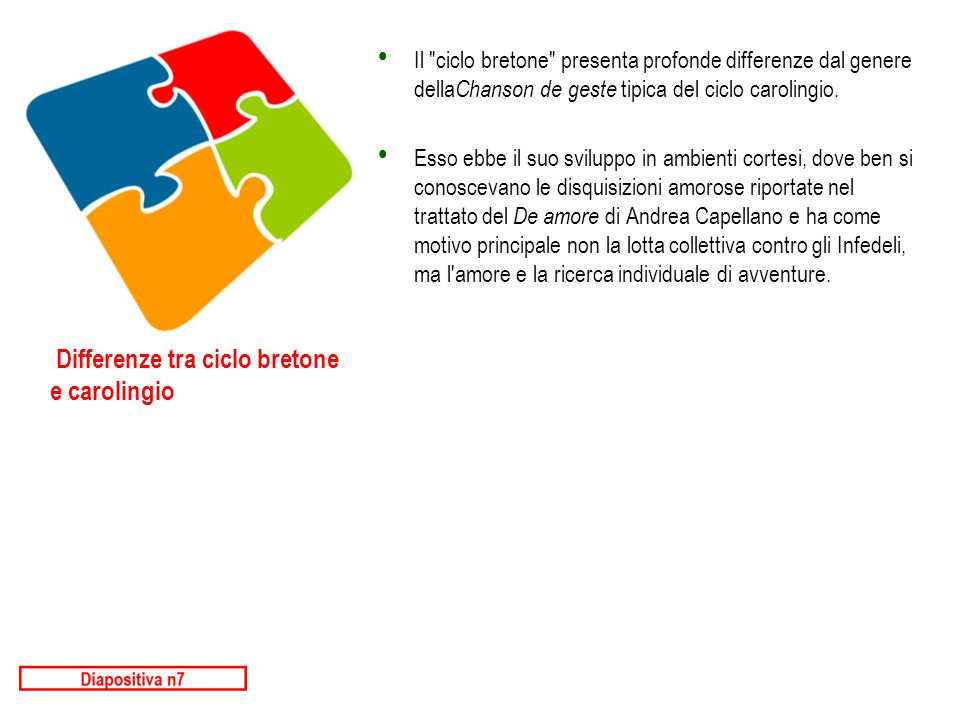 Differenze tra ciclo bretone e carolingio