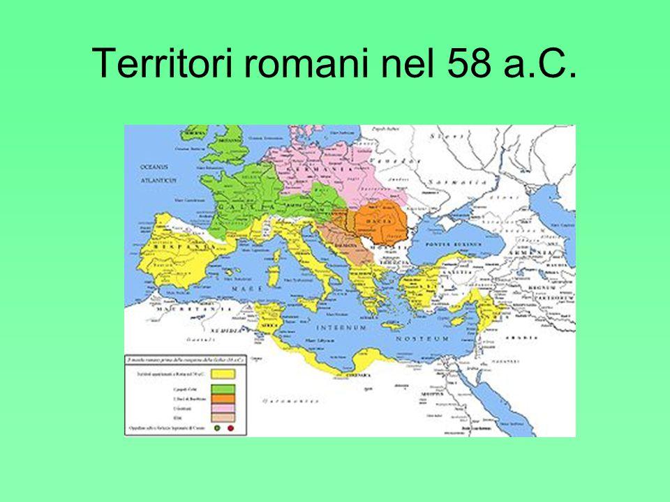 Territori romani nel 58 a.C.