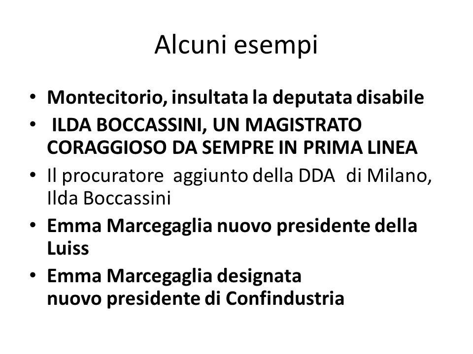 Alcuni esempi Montecitorio, insultata la deputata disabile