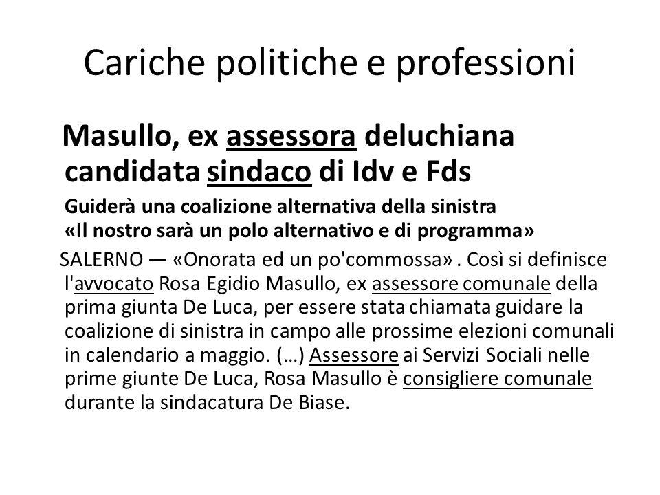 Cariche politiche e professioni