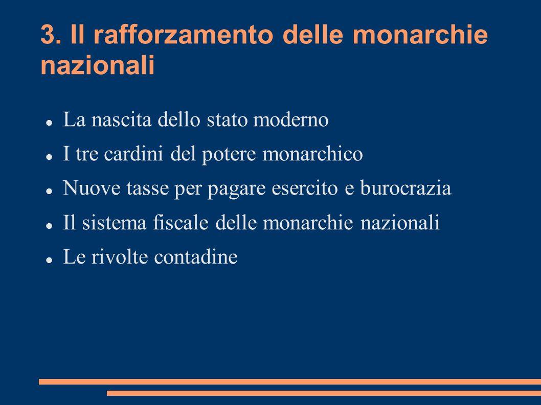 3. Il rafforzamento delle monarchie nazionali