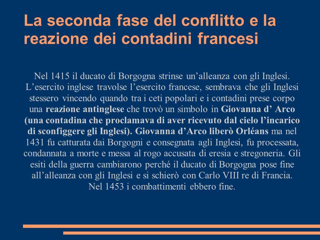 La seconda fase del conflitto e la reazione dei contadini francesi