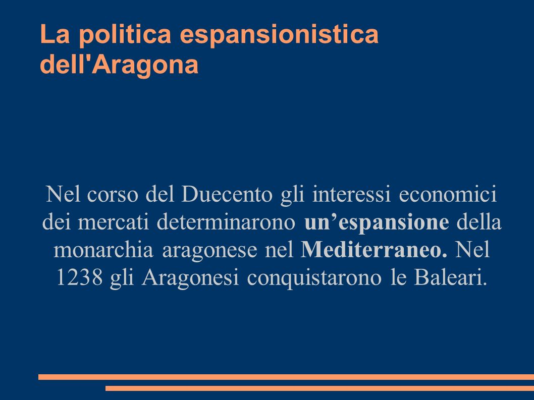 La politica espansionistica dell Aragona