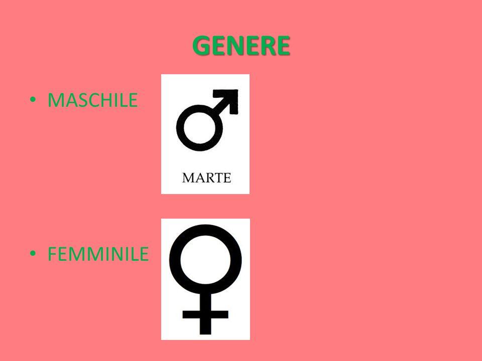 GENERE MASCHILE FEMMINILE