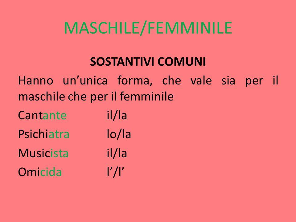 MASCHILE/FEMMINILE