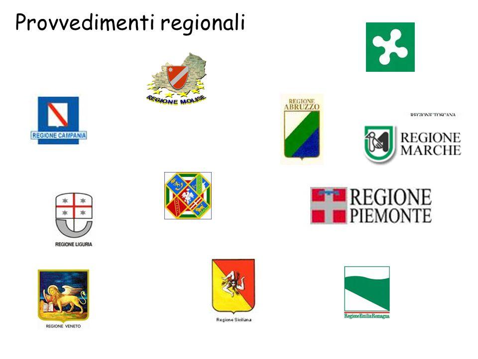 Provvedimenti regionali