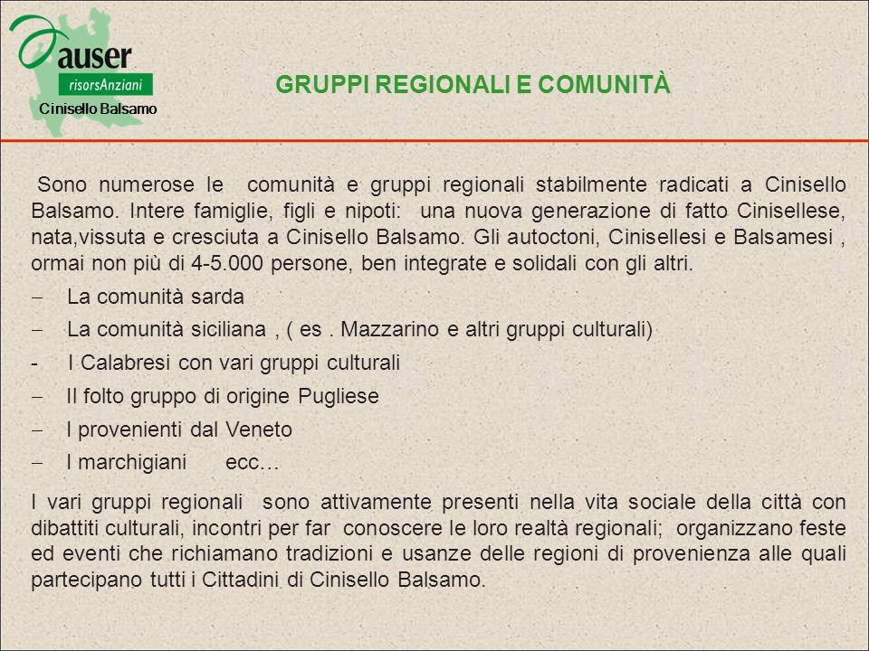 GRUPPI REGIONALI E COMUNITÀ