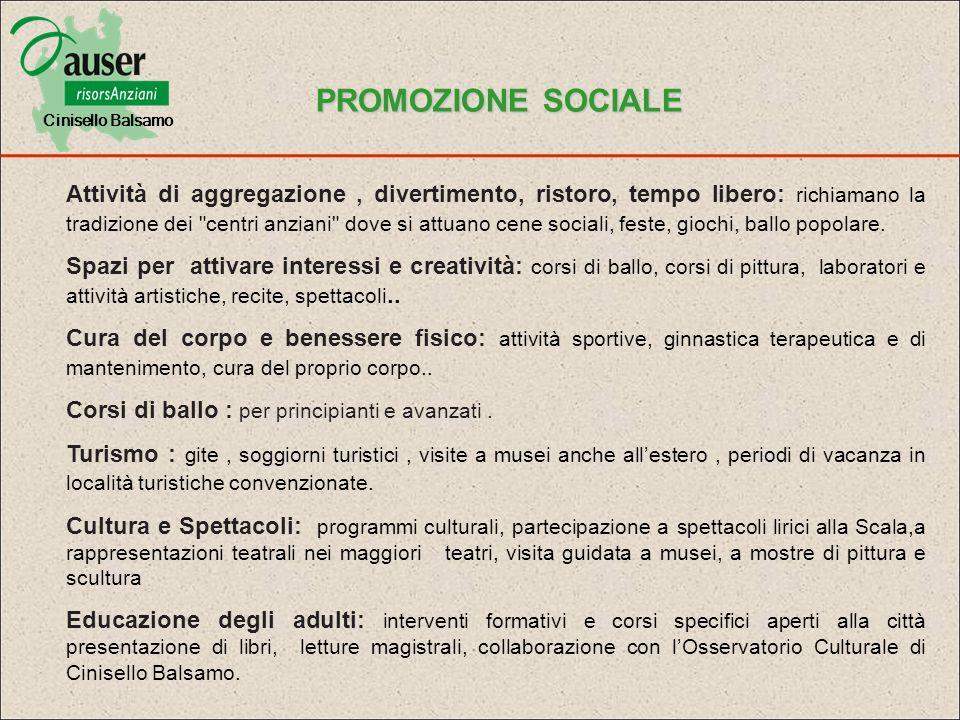 Cinisello Balsamo PROMOZIONE SOCIALE.