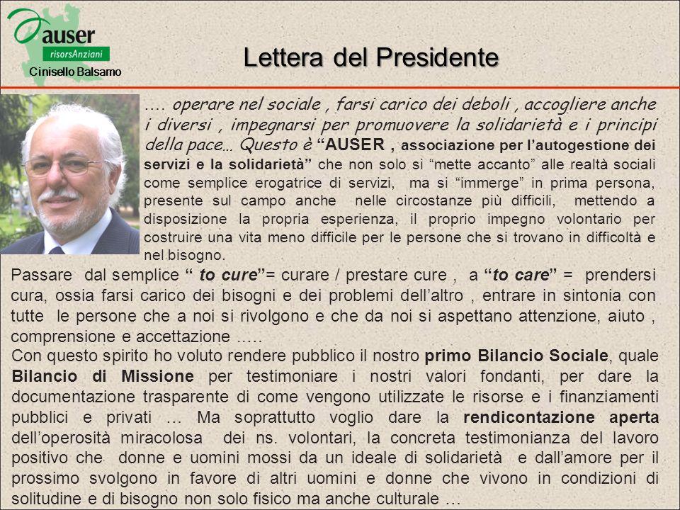 Lettera del Presidente