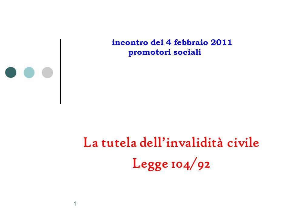 La tutela dell'invalidità civile Legge 104/92