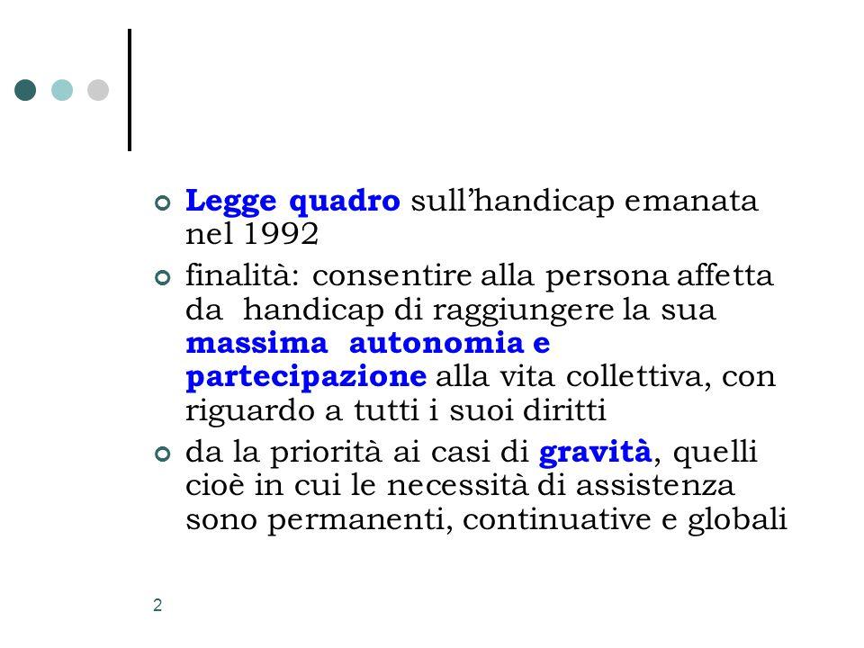Legge quadro sull'handicap emanata nel 1992