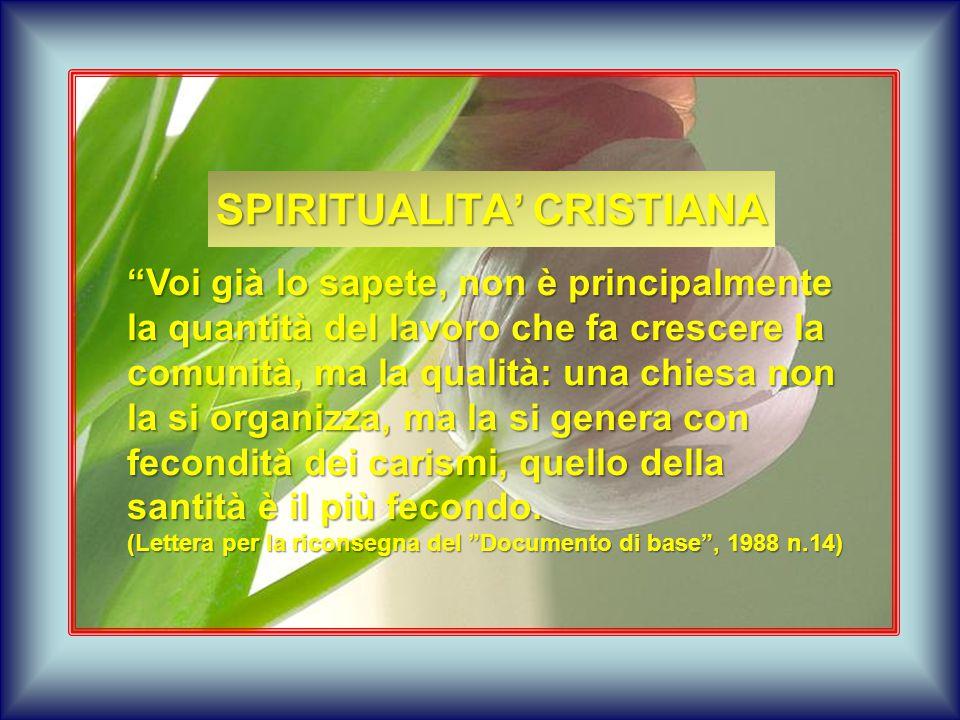 SPIRITUALITA' CRISTIANA