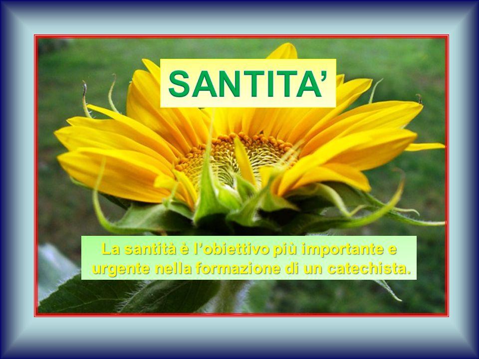 SANTITA' La santità è l'obiettivo più importante e