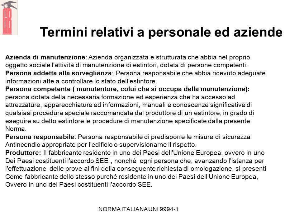 Termini relativi a personale ed aziende