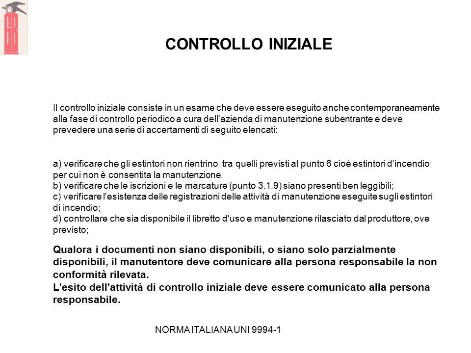 CONTROLLO INIZIALE