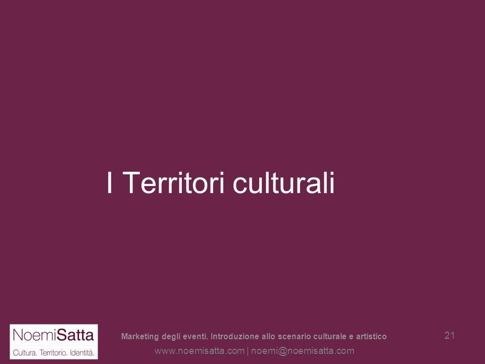 I Territori culturali