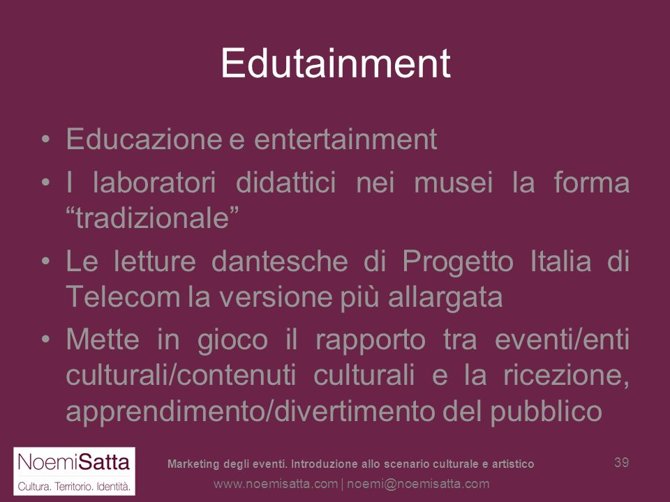 Edutainment Educazione e entertainment