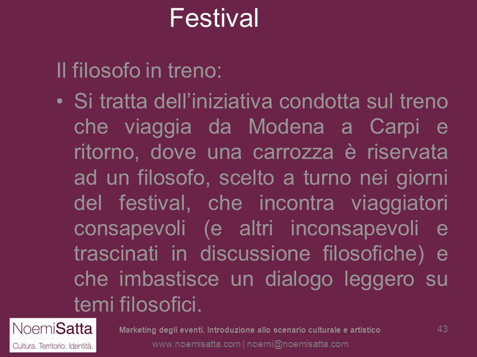Festival Il filosofo in treno: