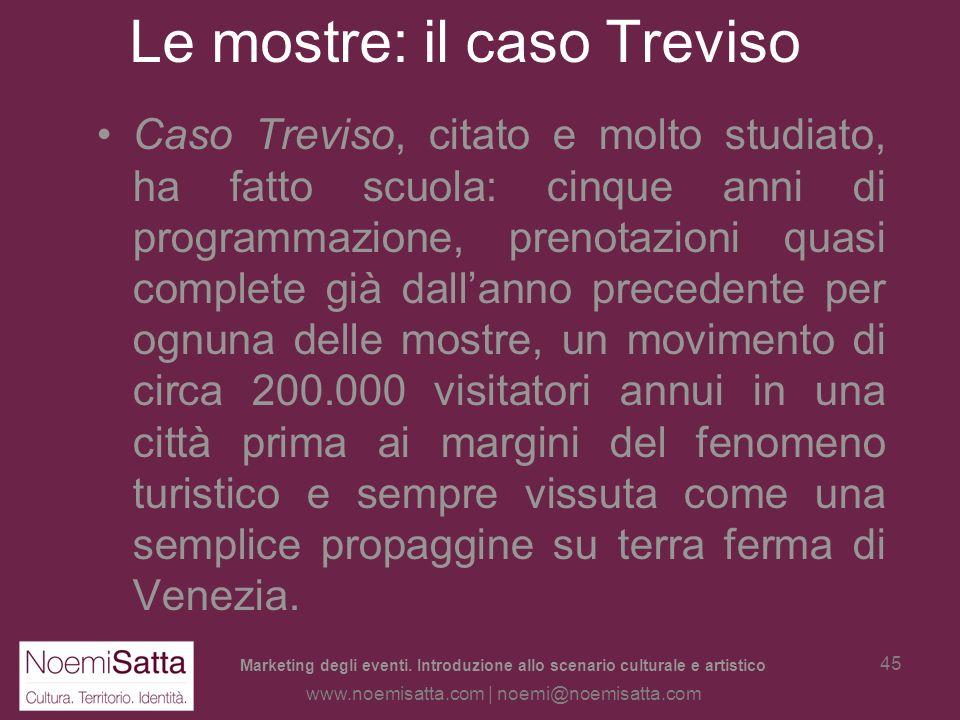 Le mostre: il caso Treviso