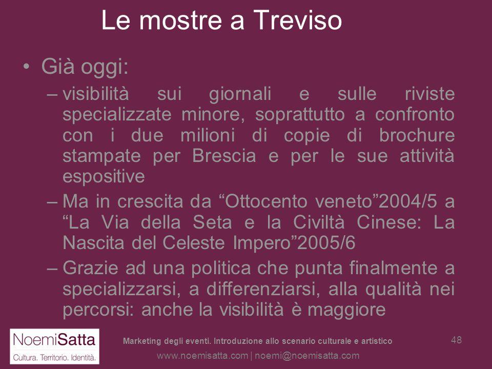 Le mostre a Treviso Già oggi: