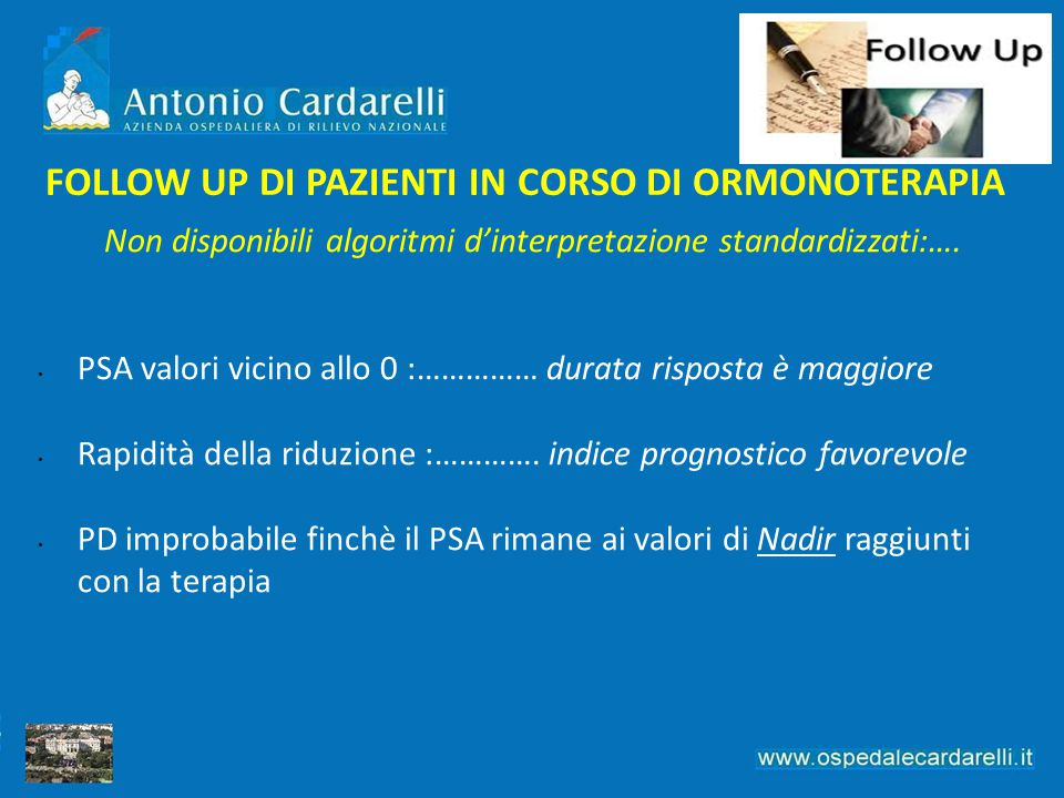 FOLLOW UP DI PAZIENTI IN CORSO DI ORMONOTERAPIA